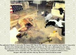 Escenario del crimen en la casa de Sharon, en Beverlly Hills.